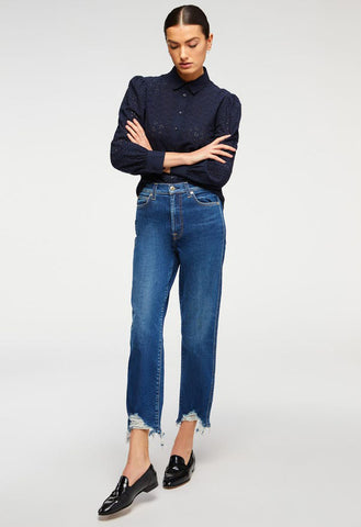 7 for all Mankind - High Waist Cropped Straight