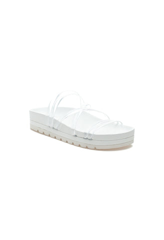 J/Slides - Laurel Slide Sandal in Clear