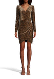 Nicole Miller - Faux Wrap Dress