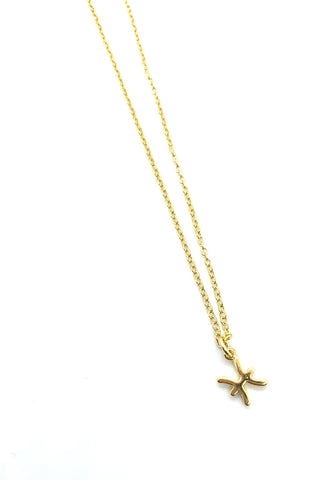 A & E Inspired - Pisces Zodiac Necklace in Gold