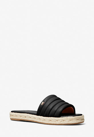 Michael Kors - Royce Quilted Leather Slide Sandal