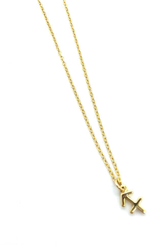 A & E Inspired - Sagittarius Zodiac Necklace in Gold