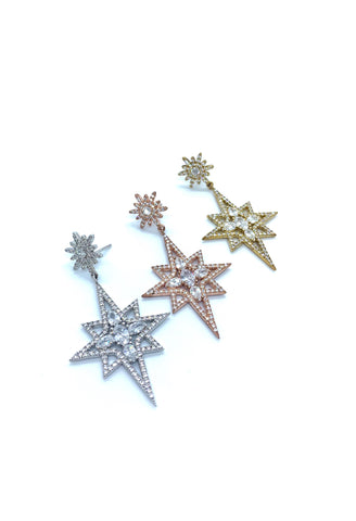 Jocelyn Kennedy - Starburst Crystal Earrings