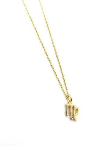 A & E Inspired - Virgo Zodiac Necklace in Gold