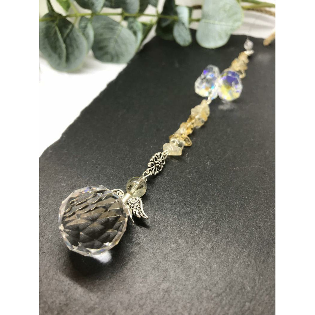 Citrine Sun Catcher Pendulum