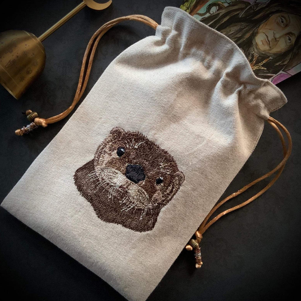 Embroidered Otter Pouch