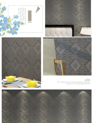 3D Foam Wallpaper Waterproof & Mildew Proof SKU# WAL0148