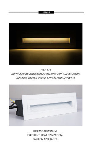 Exterior LED Stair / Wall Light IP65 6W AC85-265V SKU# LIGE0012