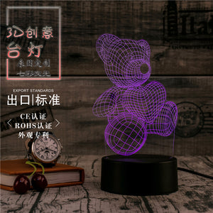 LED-RGB Multi-Colour Love Bear Table Lamp SKU# LIG0100