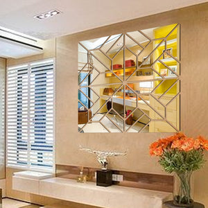 3D Wall Mirror Tile Radiance Self-Adhesive SKU# MOS0013