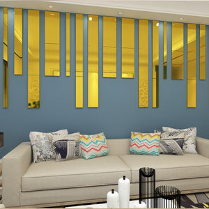 Wall Mirror Strip Tile Bundle Self-Adhesive SKU# MOS0015