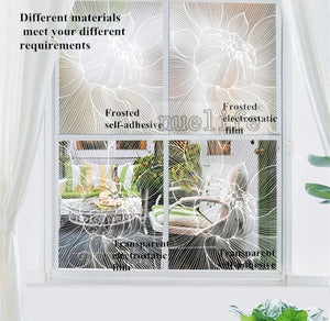 Window Transparent Electrostatic Glass Flower SKU# MOS0023