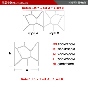 Wall Mirror Tiles Self-Adhesive Geometric SKU# MOS0014