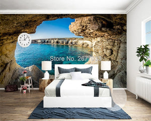 3D Wallpaper Mystery Cave Seascape SKU# WAL0235