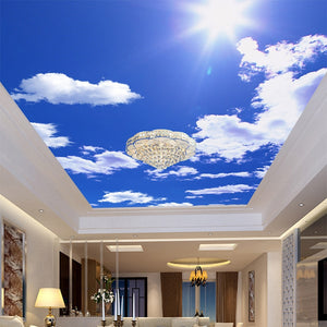 3D Ceiling Paper Blue Sky White Clouds Papal SKU# WAL0171