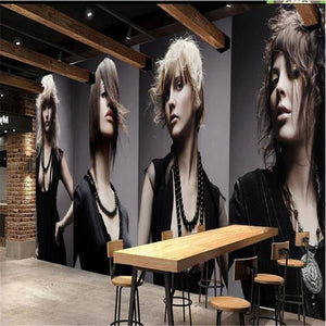 3D Wallpaper Hair Salon Mural Waterproof WAL0175