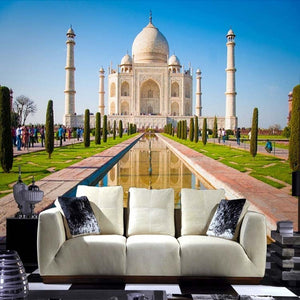 3D Wallpaper Taj Mahal Indian Papel de Parede SKU# WAL0187