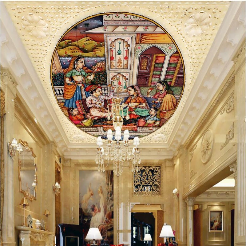 3D Ceiling Paper Beautiful Indian Bridal Painting SKU# WAL0185