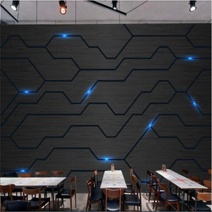 3D Wallpaper Moden Circuit Tech Diagram SKU# WAL0192