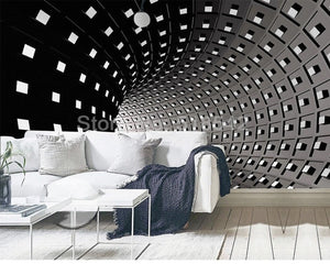 3D Wallpaper Black/White Expand Space SKU# WAL0193