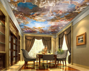 3D Ceiling Paper White Cloud Palace SKU# WAL0250