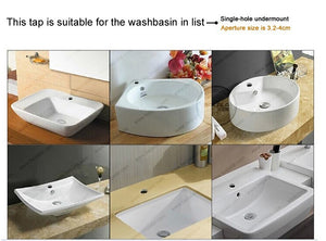 Modern Glass and Chrome Bathroom Faucet SKU# BAT0008
