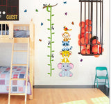 Cute Tiger Animals Stack Height Measure Wall Stickers Decal Kids Adhesive Vinyl SKU# WAL0129