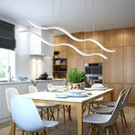 LED Water Waves Aluminum Pendant Frosted Light Island Dining Room SKU# LIG0049