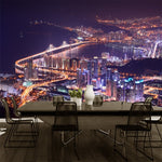 3D-HD Wallpaper Beautiful City Night Scenes Night Life Waterproof & Mildew Proof SKU# WAL0124
