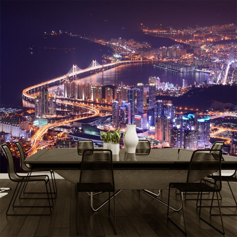 3D Beautiful City Scenes Night Life Waterproof SKU# WAL0124