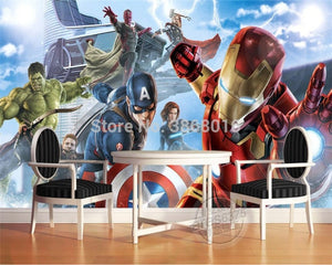 3D Wallpaper Avengers Waterproof / Mildew Proof SKU# WAL0025