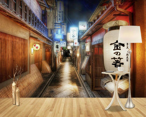 3D Wallpaper Japanese Shop Street Waterproof SKU# WAL0002