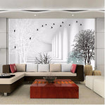 3D-HD Custom High-Grade Wallpaper Modern Abstract Woods - Waterproof, Soundproof & Mildew Proof - SKU# WAL0026