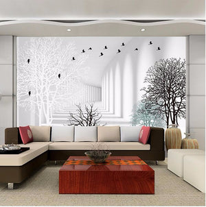 3D Wallpaper Modern Abstract Woods Waterproof SKU# WAL0026