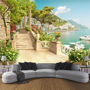 3D Wallpaper Garden Balcony Waterproof SKU#WAL0051