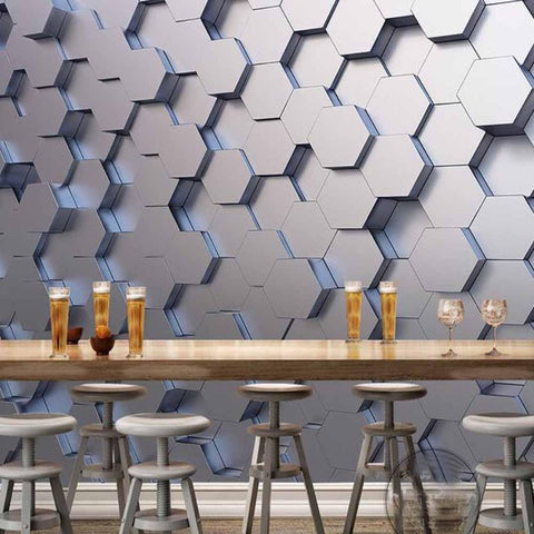 3D-HD Geometric Wallpaper Murals Photo Wall Paper Sticker Mural Waterproof & Mildew Proof SKU# WAL0070
