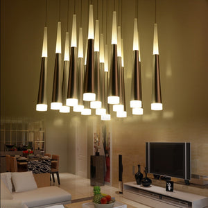 Zylinder Pipe LED Pendant Meteor Shower with Canopy SKU# LIG0068