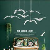 LED Seagull Pendant Light Art White Seagull Livingroom, Bedroom SKU# LIG0041