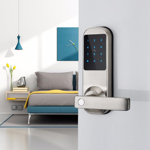 Digital Code Door Lock with Backup Keys, (HFAM10-NB) Securitize your Home SKU# ELE0034