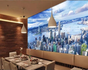 3D Wallpaper Cityscape Painting Waterproof SKU# WAL0047