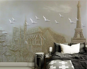 3D Wallpaper Paris Embossed Landscape SKU# WAL0049