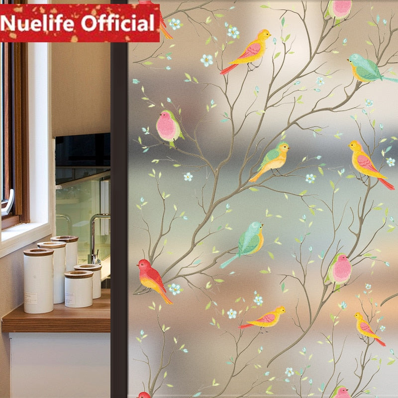 Window Transparent Bird Film Frosted Glass SKU# MOS0025