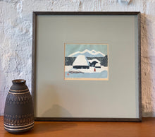 Load image into Gallery viewer, 'Countryhouse in Snow' by Umetaro Azechi