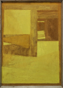 'Abstract Composition in Yellow and Brown' by Arne L. Hansen