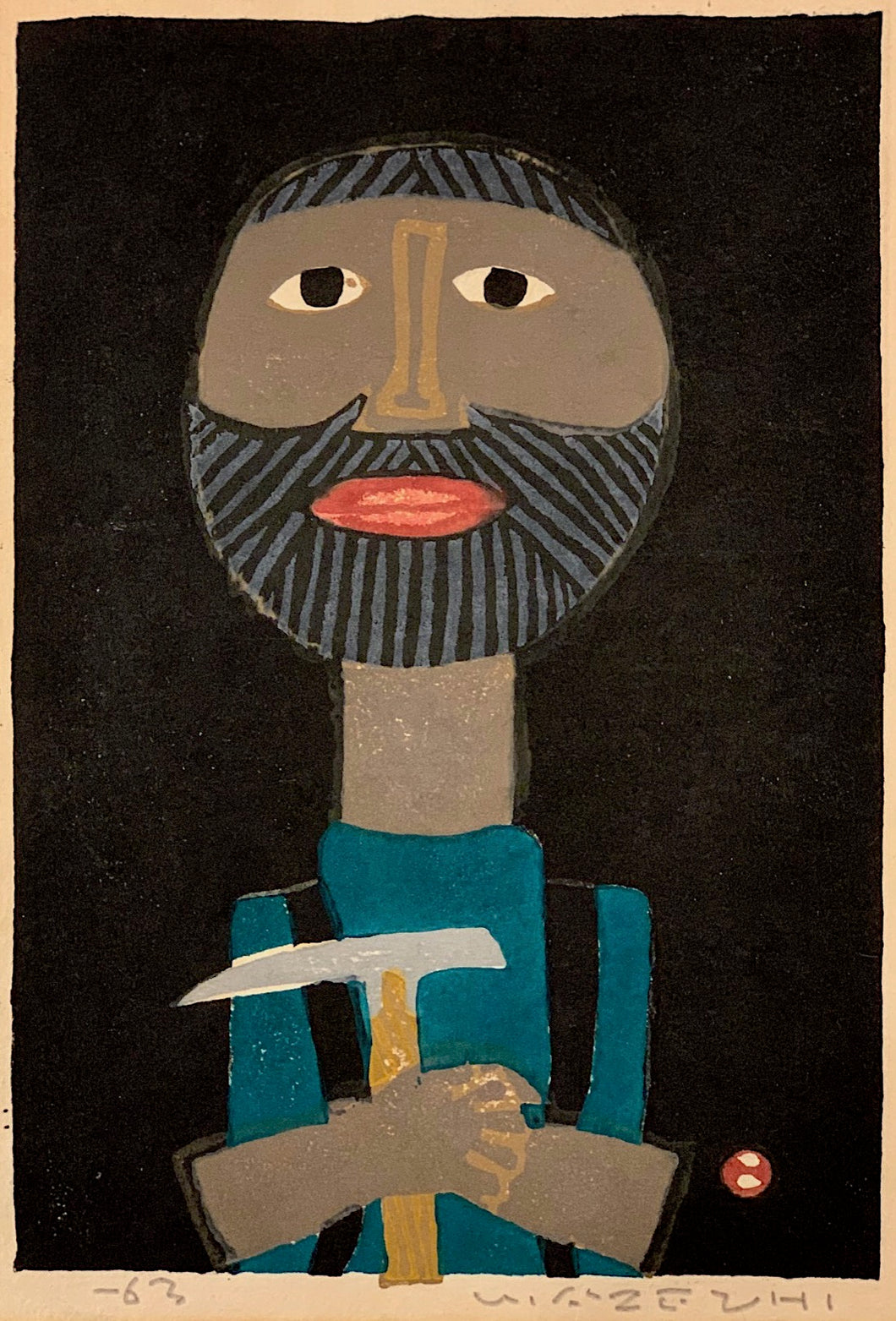 'Mountaineer With Climbing Axe' by Umetaro Azechi
