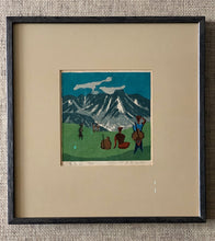Load image into Gallery viewer, 'Mountain Scene With Climbers' by Umetaro Azechi