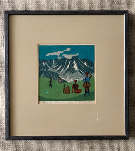 'Mountain Scene With Climbers' by Umetaro Azechi