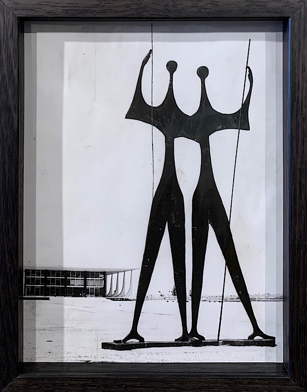 'Os Candangos bronze sculpture,  Brasilia by Bruno Giorgi' - original vintage press photograph
