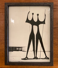 Load image into Gallery viewer, 'Os Candangos bronze sculpture,  Brasilia by Bruno Giorgi' - original vintage press photograph