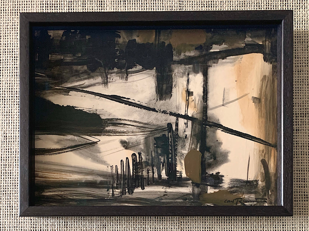 'Abstract in Black and Brown' by Carl Runnström